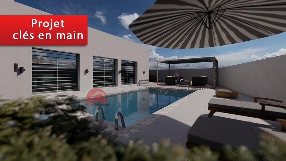A vendre un projet moderne d une villa a houmt souk djerba