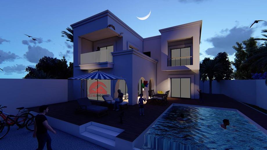 A vendre une villa moderne avec piscine a la zone touristique djerba