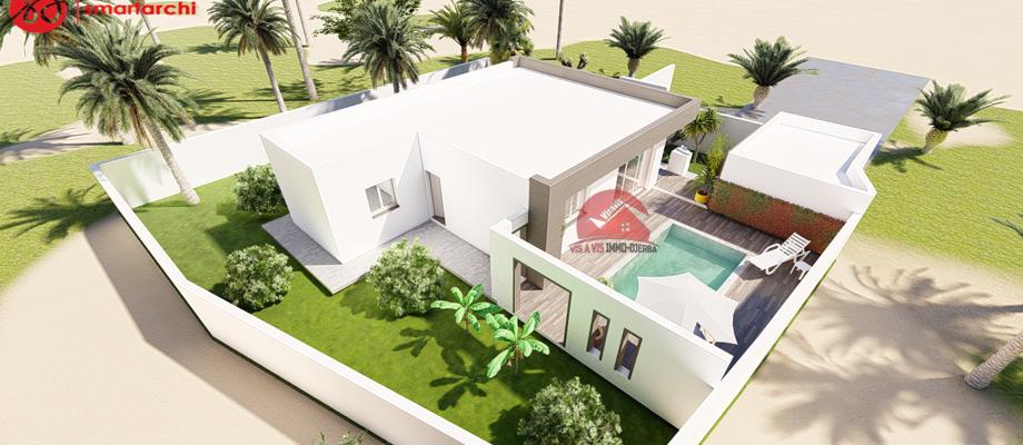 A vendre un projet moderne cle en main d une villa a houmt souk djerba