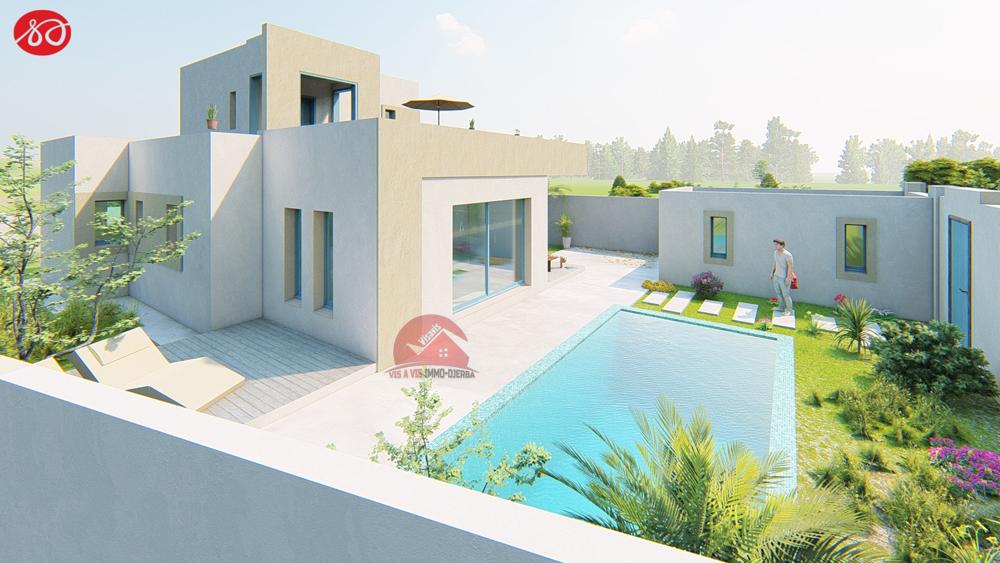 Terrain + construction a djerba houmt souk zone urbaine