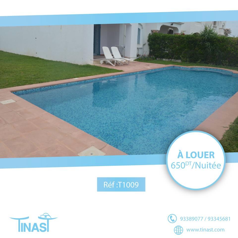 Une villa avec piscine à yassmine hammamet