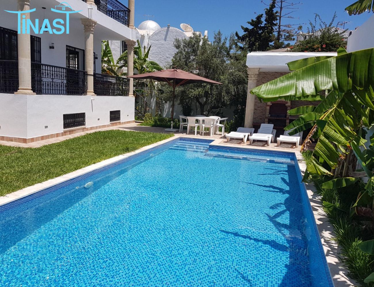 Une villa s+5 à hammamet pour la location estivale