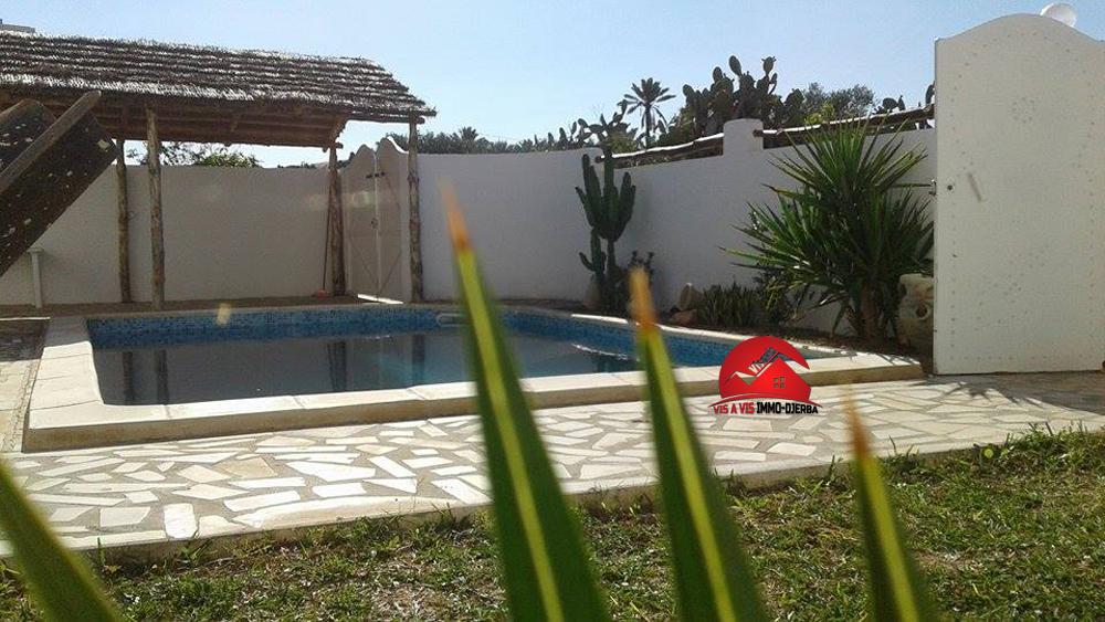 Location annuelle - villa avec piscine privée a midoun djerba