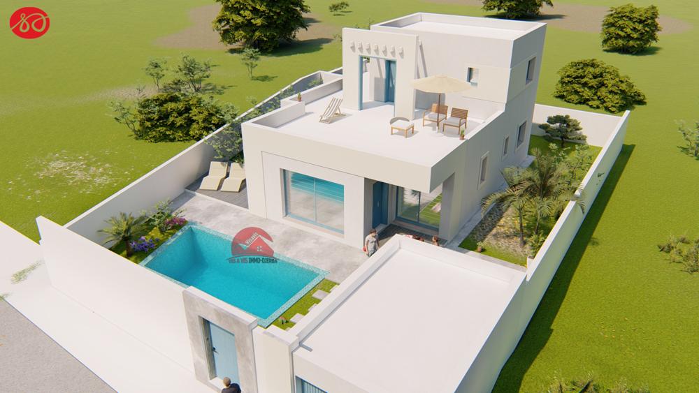 A vendre cle en main d une villa style moderne a djerba houmt souk